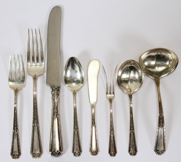 111003: TOWLE 'LOUIS XVI' STERLING FLATWARE SET, 78 PCS