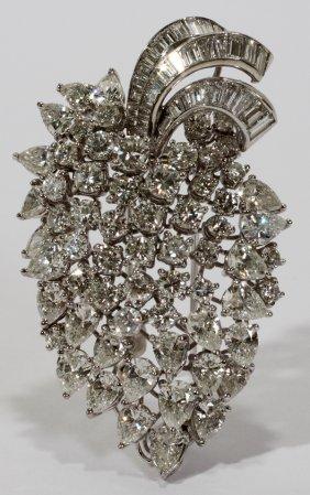 111007: PLATINUM & DIAMOND BROOCH/PENDANT