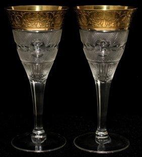 111018: MOSER 'SPLENDID (GOLD)' GLASS CLARET WINES,