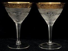 111020: MOSER 'SPLENDID (GOLD)' CHAMPAGNES/SHERBETS