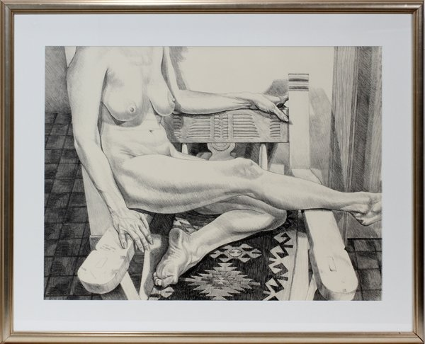 112017: PHILIP PEARLSTEIN (AMERICAN, 1924), LITHOGRAPH
