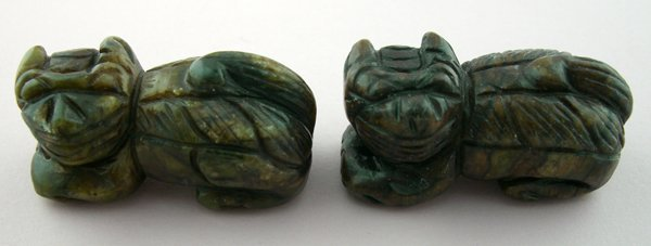 """120007: CHINESE CARVED STONE FIGURE, L 2"""""""