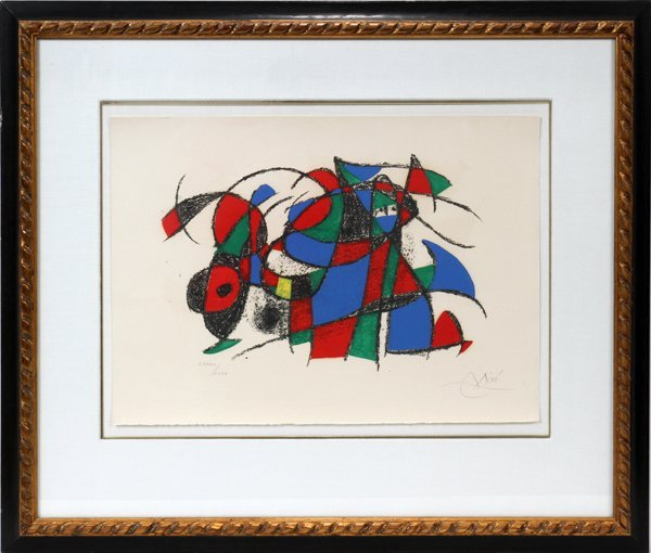 121009: JOAN MIRO (SPANISH, 1893-1983), LITHOGRAPH