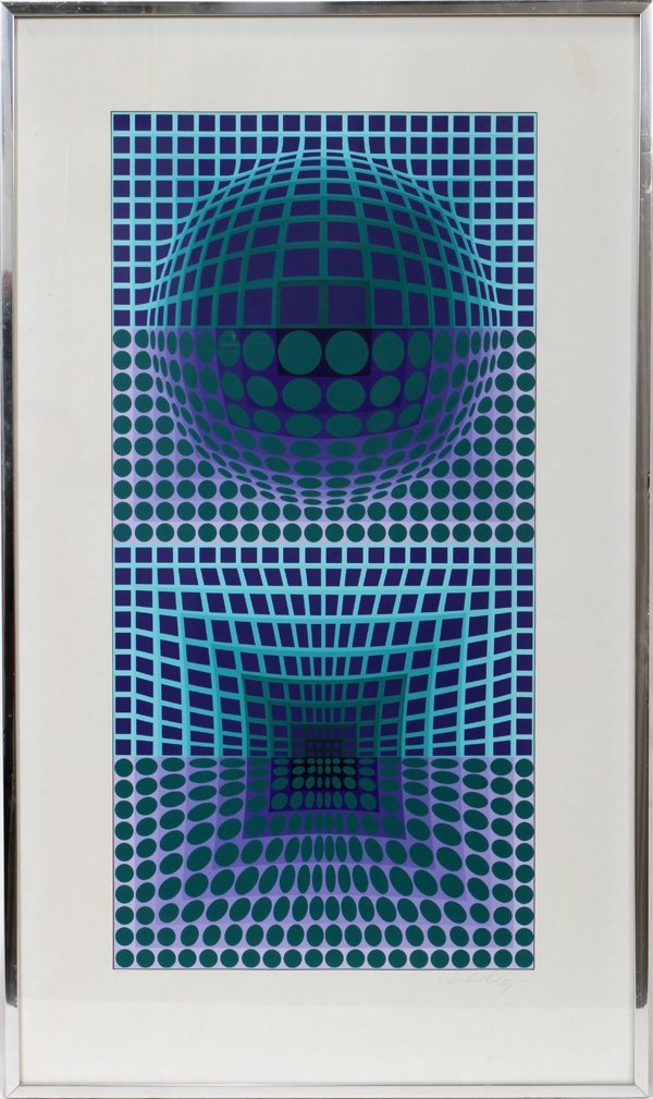 121010: VICTOR VASARELY (FRENCH), ORIGINAL SERIGRAPH