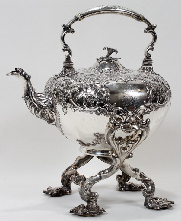 121017: WILLIAM IV SCOTTISH STERLING KETTLE,
