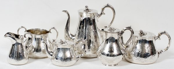 121018: VICTORIAN STERLING TEA & COFFEE SET