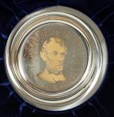 121549: THE FRANKLIN MINT STER. & ABRAHAM LINCOLN PLATE