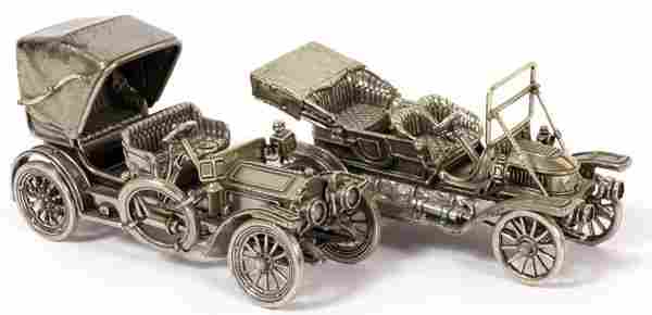 THE FRANKLIN MINT SILVER CAR MINIATURES, TWO