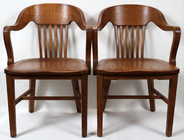 121606: OAK OFFICE CHAIRS,MARBLE & SHATUCK CHAIR CO.