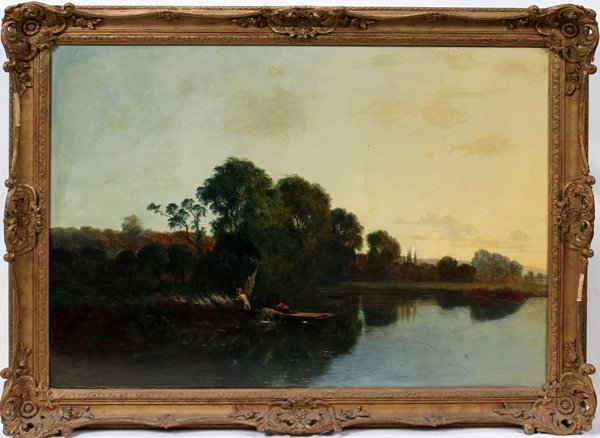 122004: EDWIN HENRY BODDINGTON [BRITISH] OIL ON CANVAS