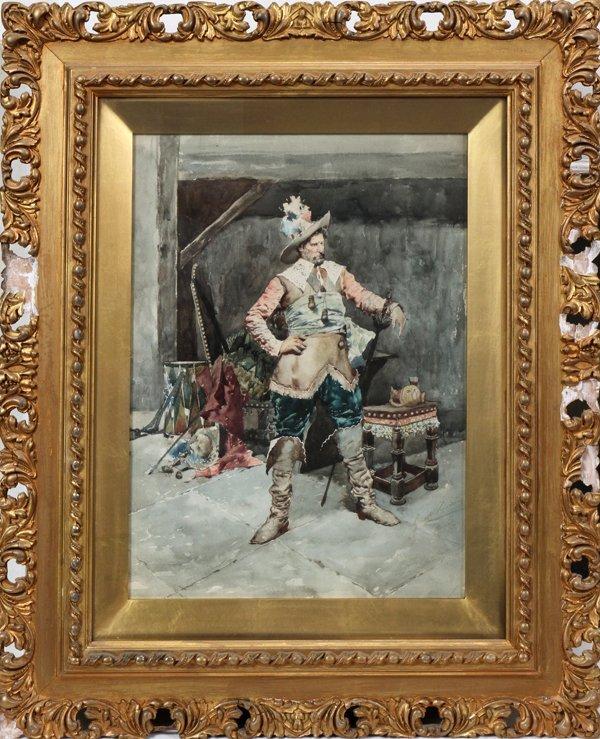 122005: GIUSEPPE SIGNORINI (ITALIAN)WATERCOLOR ON PAPER