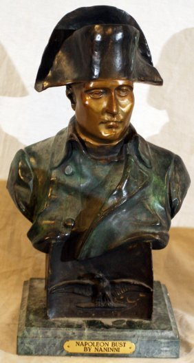 010006: AFTER NANINNI, BRONZE BUST OF NAPOLEON