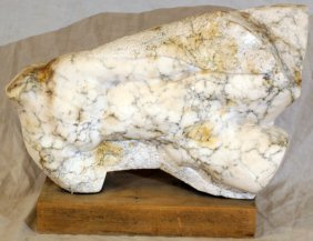 010010: CARVED WHITE MARBLE SCULPTURE
