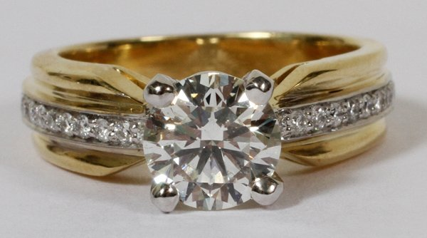 010022: 1.26CT DIAMOND RING, 5 1/2