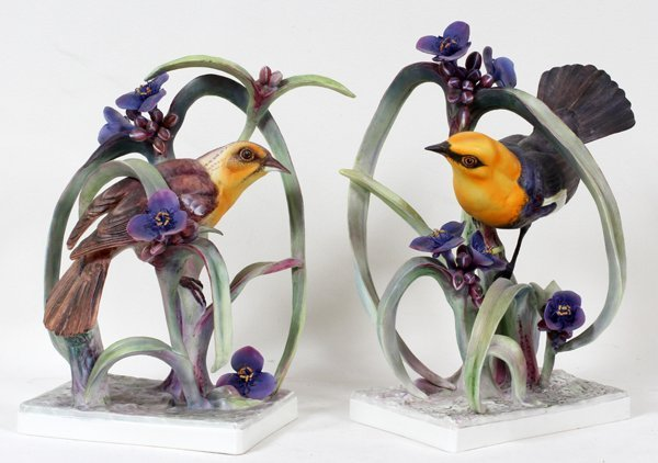 011002: DOROTHY DOUGHTY ROYAL WORCESTER BLACKBIRDS