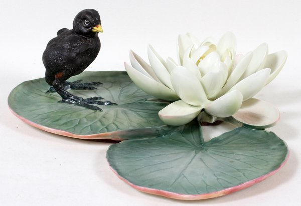 011005: DOROTHY DOUGHTY ROYAL WORCESTER MOORHEN CHICK &