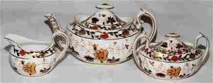 011101: ROYAL CROWN DERBY PORCELAIN TEA SET