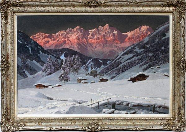 012002: ALOIS ARNEGGER (AUSTRIAN), OIL ON CANVAS,