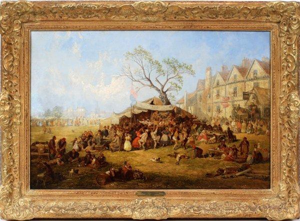 012003: JAMES HOLLAND (BRITISH 18-1870), OIL ON CANVAS