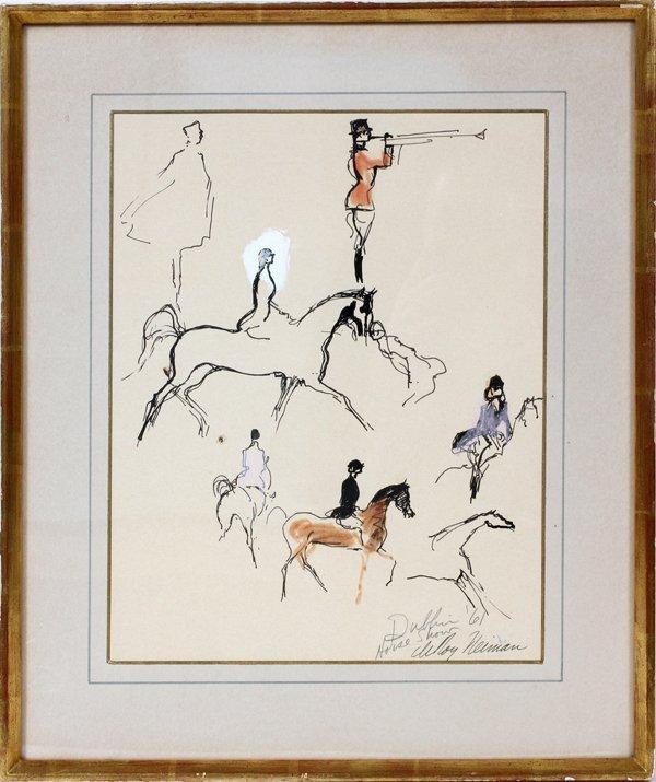 012009: LEROY NEIMAN (AMERICAN 1921-2012), MIXED MEDIA,