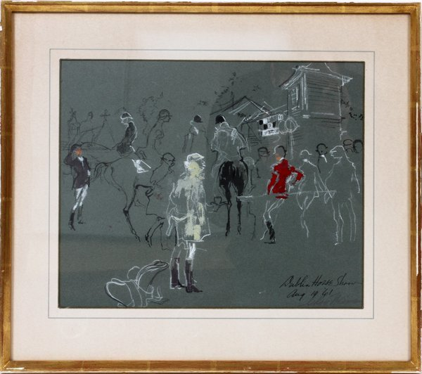 012010: LEROY NEIMAN (AMERICAN 1921-2012), MIXED MEDIA,