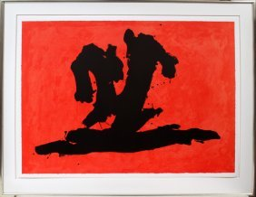 012014: ROBERT MOTHERWELL [AMERICAN] COLOR LITHOGRAPH
