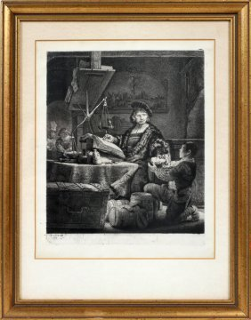 REMBRANDT VAN RIJN (DUTCH),ETCHING