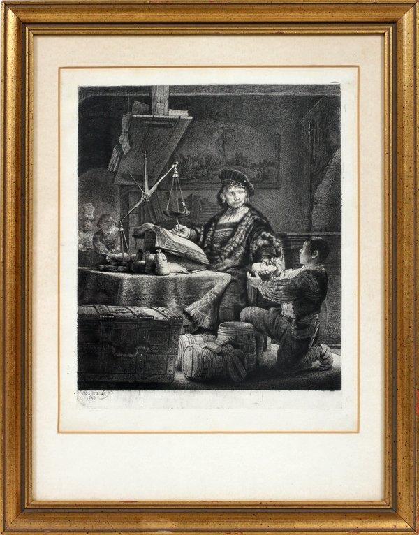 012016: REMBRANDT VAN RIJN (DUTCH),ETCHING