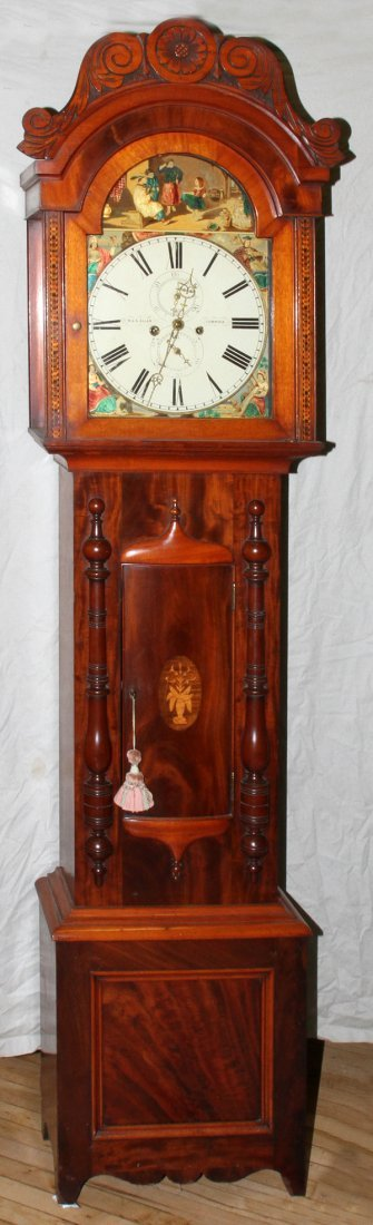 012019: R & A ALLAN, CUMNOCK, SCOTTISH MAHOGANY CLOCK