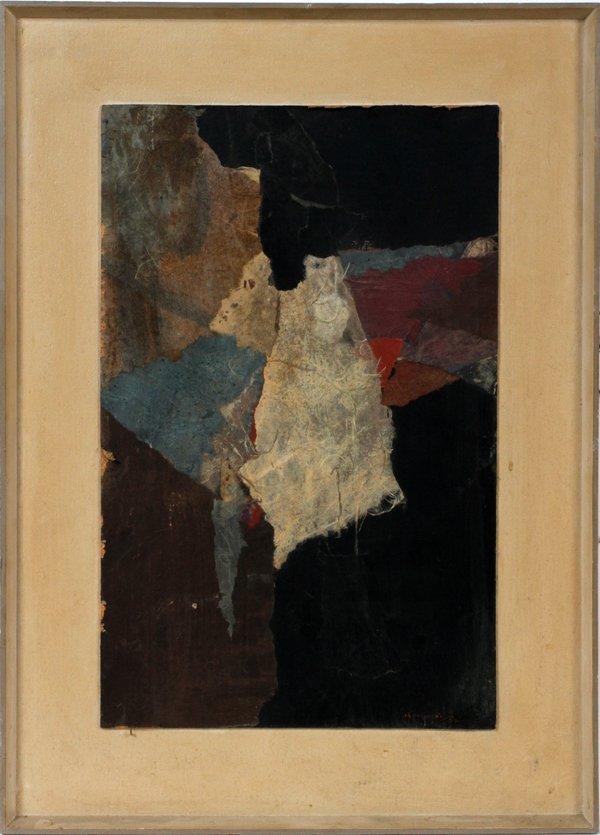 012252: PAUL HORIUCHI (AMERICAN 1906-1999) OIL MASONITE