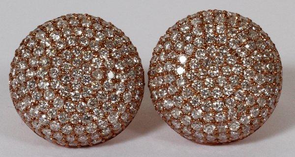 "5.5CT DIAMOND OVAL CLUSTER EARRINGS, DIA 3/4"""