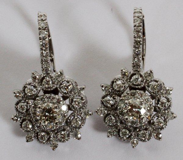 """1.76CT DIAMOND EARRINGS, L 3/4"""""""