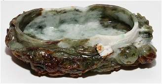 CHINESE CARVED JADE BRUSH WASH W 3 L 6