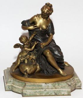 AFTER ETIENNE-MAURICE FALCONET BRONZE SCULPTURE
