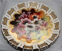 GERMAN DEMI PORCELAIN HAND PAINTED TRAY, C.1900