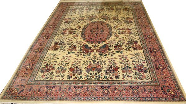 CHINESE AUBUSSON DESIGN, WOOL ORIENTAL RUG