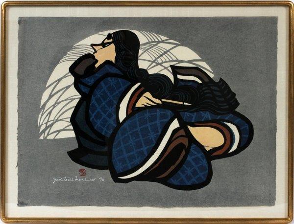 MORI JAPANESE WOOD BLOCK WOOD BLOCK PRINT, H 52