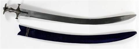 "INDO/PERSIAN TULWAR SWORD, 18TH C, L 33"" BLADE"
