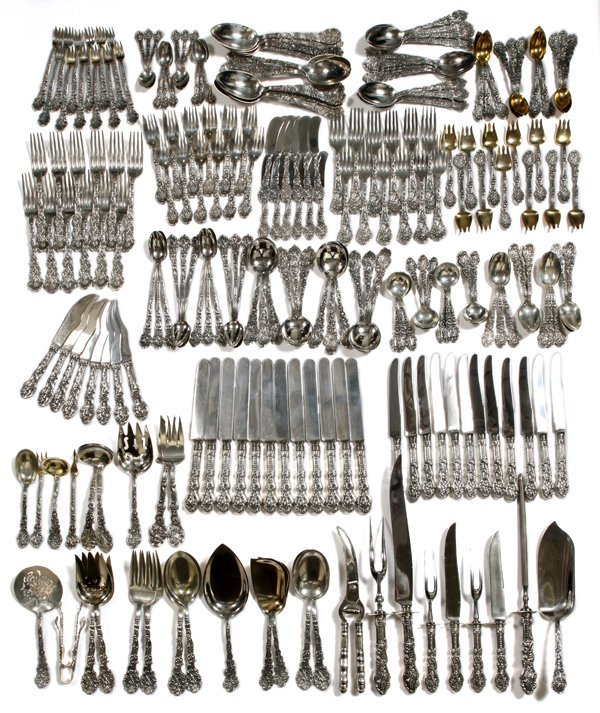 GORHAM 'VERSAILLES' STERLING FLATWARE SET 460pc