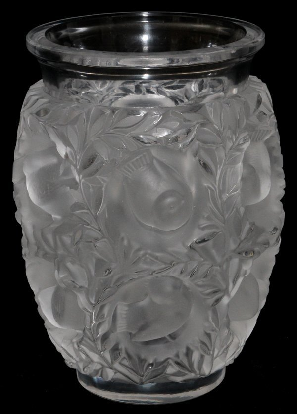 LALIQUE CRYSTAL 'BAGATELLE' VASE, H 6 3/4""