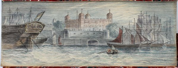 """FORE-EDGE PAINTED BOOK,""""A CHRONICLE OF ENGLAND"""""""