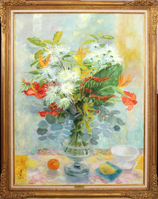 LE PHO (FRENCH 1907-2001), OIL ON CANVAS