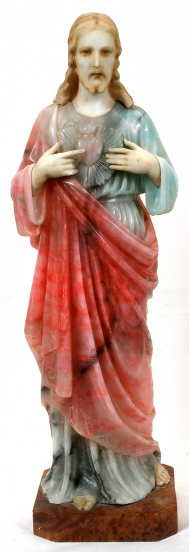 ITALIAN CARVED MULTI-COLORED MARBLE SCULPTURE