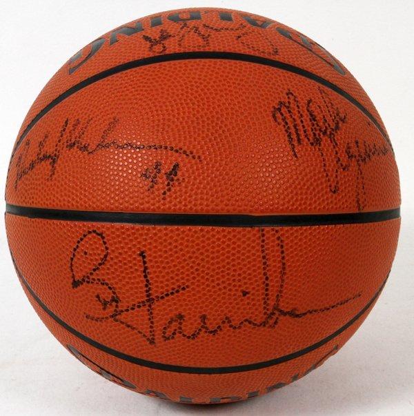 1989-1990 DETROIT PISTONS SIGNED BASKETBALL - 4