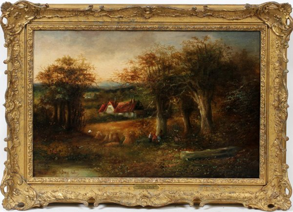 JAMES WALLACE OIL ON CANVAS, ENGLISH LANDSCAPE