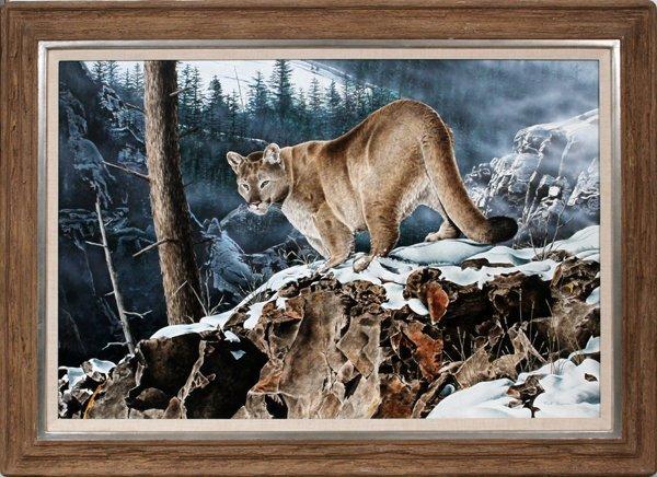 ROB GWYNN ACRYLIC ON MASONITE, 1990, LION