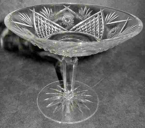 """WATERFORD CUT CRYSTAL COMPOTE, H 5"""", DIA 6"""""""