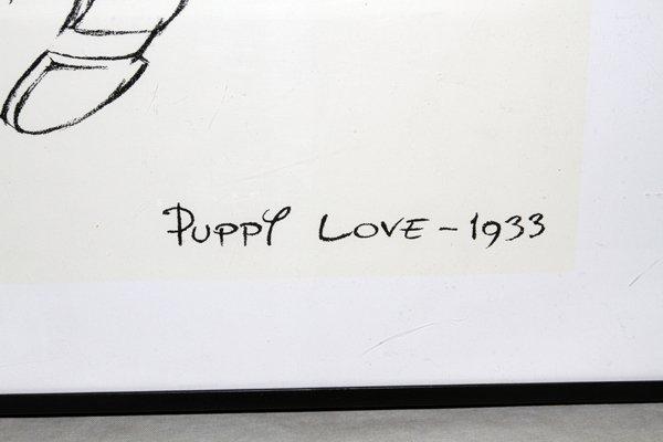"DISNEY PRINT PUPPY LOVE 1933, 12"" X 16"" - 2"