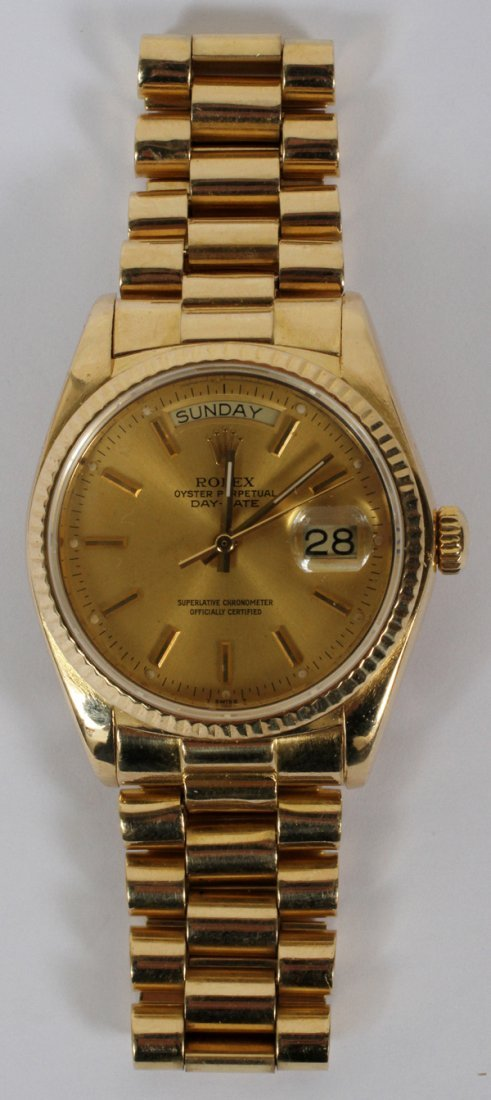 ROLEX 18KT OYSTER PERPETUAL DAY-DATE MAN WATCH