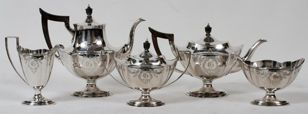 GORHAM STERLING COFFEE & TEA SET, C. 1903-1904